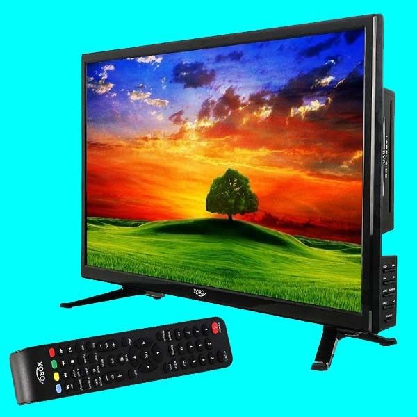 Camping LED TV 24 Zoll Xoro 2448 HD DVB-T2 ?DVD ?SAT ?DVB-C ?USB ?PVR ?12V ? Ci+