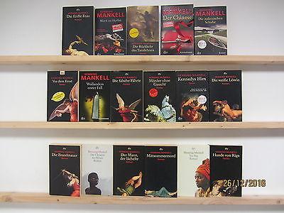Henning Mankell 17 Bücher Romane Krimi Thriller Psychothriller Top Titel