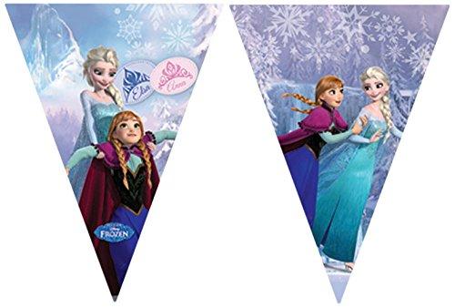 2,6m Disney Frozen Wimpelkette Banner in hellblau