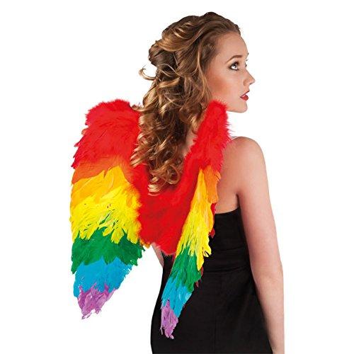 Boland 52833 - Engel Federflügel, gefaltet, 50 x 50 cm, regenbogen