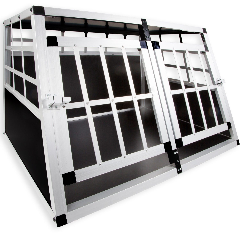 LovPet® Hundebox Transportbox Alubox Hundetransportbox Reisebox Alu Gitterbox XL