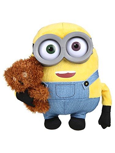 Simba 6305873070 - Minions Plüsch Bob mit Bär 22cm gelb