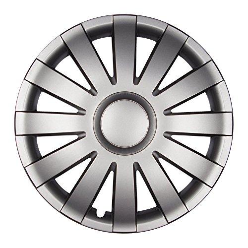 (Farbe und Größe wählbar!) 15 Zoll Radkappen AGAT (Graphit matt) passend für fast alle Fahrzeugtypen (universell) - vom Radkappen König