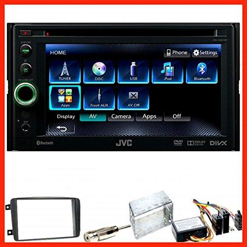 Komplett Set Mercedes C-Klasse W203 CLK W208 W209 CLC JVC KW-AV61BT Bluetooth CD