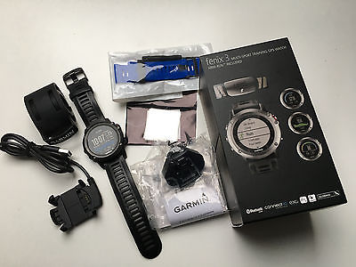 Garmin Fenix 3 GPS Multisportuhr HR Bundle grey + Zubehör