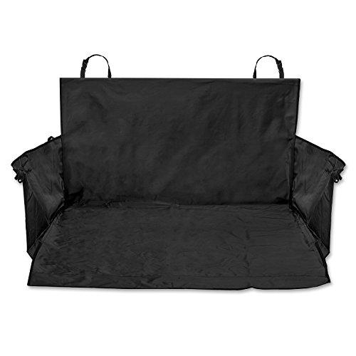 TECAROO Universal-Kofferraumdecke mit Seitenschutz in schwarz mit 2 Jahren Zufriedenheitsgarantie - Kofferraum-Schutzdecke / Kofferraum-Schondecke / Kofferraum-Matte