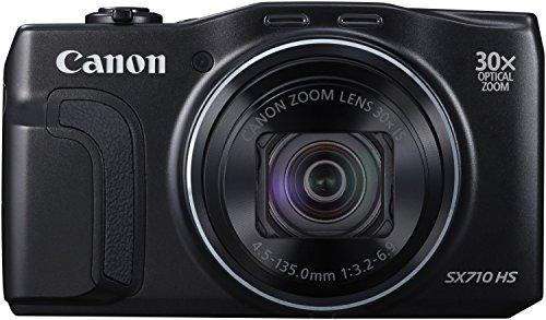 Canon PowerShot SX710 HS Digitalkamera (20,3 Megapixel CMOS, HS-System, 30-fach optisch, Zoom, 60-fach ZoomPlus, opt. Bildstabilisator, 7,5 cm (3 Zoll) Display, Full HD Movie 60p, WLAN, NFC) schwarz