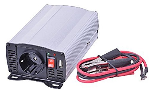 Filmer 36206 Spannungswandler Power Converter 12V auf 230V, 300W