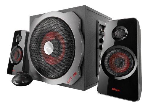 Trust GXT 38 2.1 Gaming Lautsprechersystem schwarz/rot