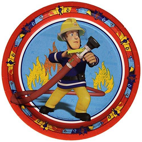 8 Partyteller * FIREMAN SAM * für den Kindergeburtstag // 998149 // Kinder Geburtstag Kinderparty Party Teller Pappteller Feuerwehr Feuerwehrmänner FEUERWEHRMANN