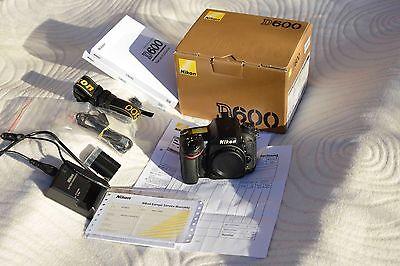 Nikon D D600 24.3 MP SLR-Digitalkamera - Schwarz (Nur Gehäuse)