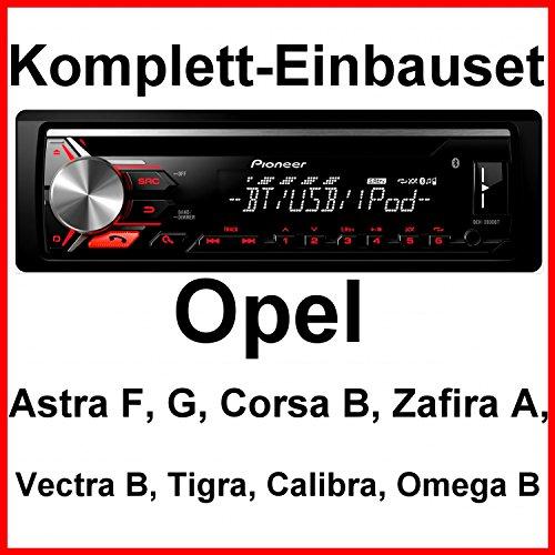 Komplett-Set Opel Astra F G Corsa B Zafira A DEH-3900BT Autoradio CD Bluetooth