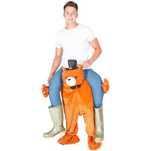 Teddybär-Aufsitzkostüm für Erwachsene Ride Me Carry On Teddy Bear