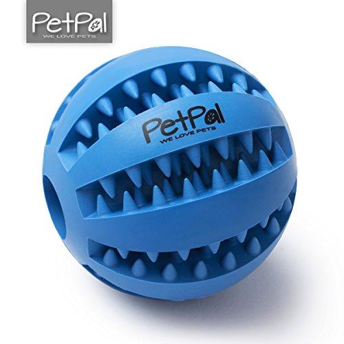 Hunde-Spielzeug Ball (ø 7cm) mit Zahnpflege-Funktion von PetPäl aus Naturkautschuk |Hundespielball | Kauspielzeug | Spielzeug für Hunde | Hundeball