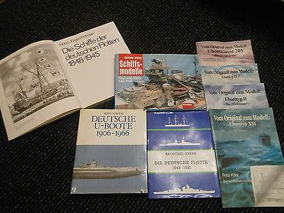 Buch Paket Deutsche U-Boote Flotte Schiffsmodellbau Kriegsschiffe Sammler WK