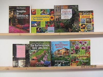 35 Bücher Garten gärtnern Gartengestaltung Gartenpflege Gärten Gartenkunst