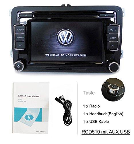 SODA Autoradio OEM VW RCD510,Bluetooth,CD,USB,AUX,für VW Golf,Touran,Caddy,Sharan,Tiguan,Scirocco,GTI,Polo,CC,EOS,Passat
