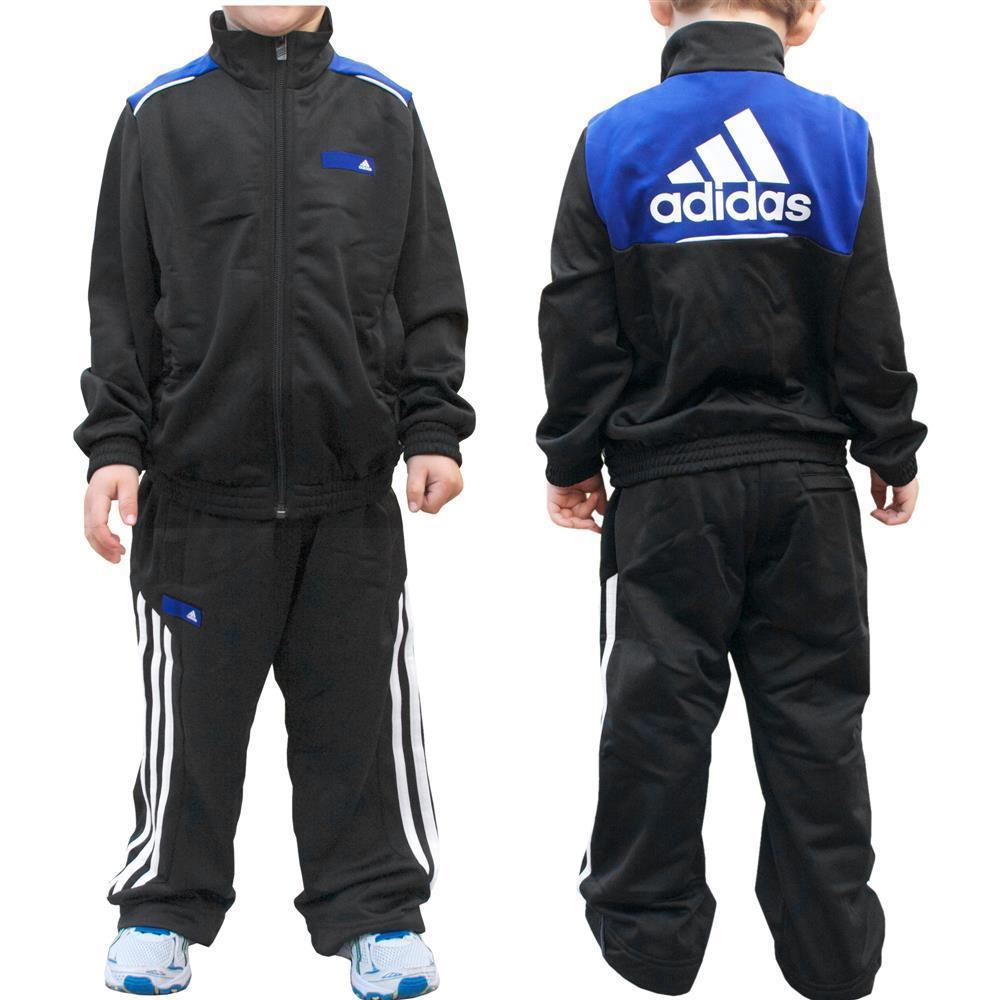 adidas Kinder Trainingsanzug Sportanzug Jogginganzug Jungen Mädchen Baby schwarz