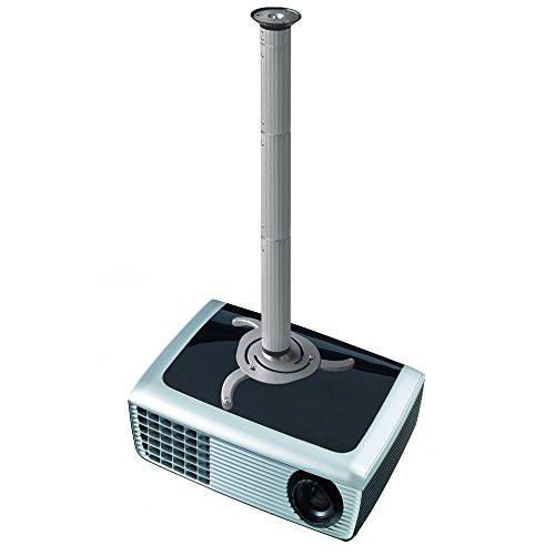 NewStar BEAMER-C200 Deckenhalterung (Höhe 8 cm bis 98 cm) für Projektor silber