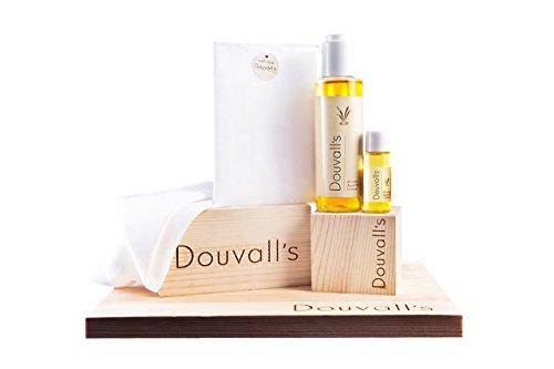 Douvall's Geschenkset, 1 x All-in-One Arganöl Reiniger 150 ml, 1 x Bio Feuchtigkeitsplfege 50 ml, 1 x Muslin Cloth, 1er Pack (1 x 1 Stück)