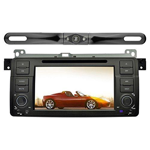 YINUO 7 Zoll 1 Din Android 5.1.1 Lollipop Quad Core Autoradio Moniceiver DVD GPS Navigation Orange Farbe Tastenbeleuchtung für BMW 3 Series E46 1998-2001/ BMW 3 Series E46 2002-2006/ BMW M3 (1998- 2006) mit Backup-Kamera