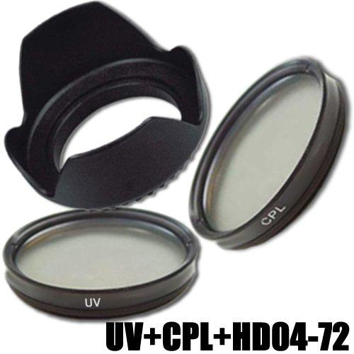 DynaSun Kit Pro 72mm UV mit CPL Zirkular Polfilter und Gegenlichtblende für Gewinde