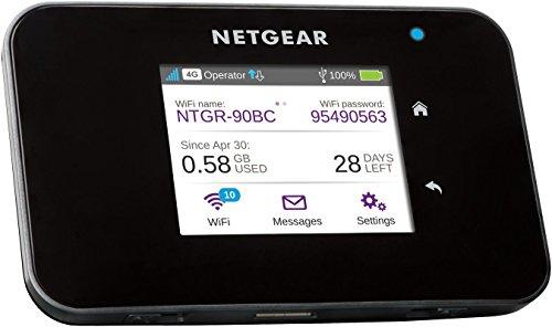 NETGEAR AC810-100EUS Aircard 810 Mobile Hotspot Router (4G LTE, Cat 11, 600MBit/s, 11ac, Powerbank, ohne SIM-Lock) schwarz