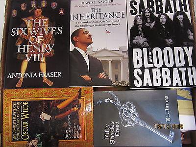 50 Bücher englische Bücher Sachbücher Romane Dokumentationen u.a.