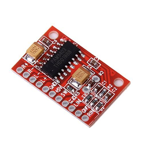 Foxnovo High Power Super Mini Digital-Audioverstärker Board Platine (rot)