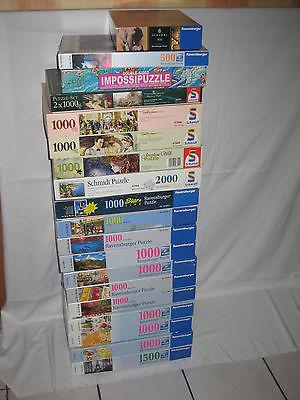 Puzzle Paket, Sammlung, 20 Ravensburger, Schmidt 500,1000,1500 Teile teilw.
