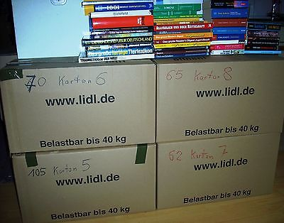 8 Umzugskartons mit ca. gebrauchten 700 Bücher aus Haushaltsauflösungen