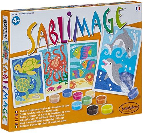 Sentosphere 3980880 - Sandbilder Fische und Delphine, 4 Bildvorlagen