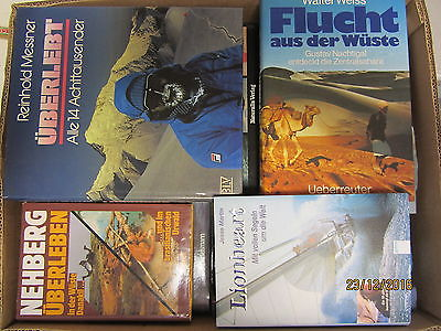 31 Bücher Abenteuerberichte Abenteurer R.Messner Nehberg Fuchs u.a.