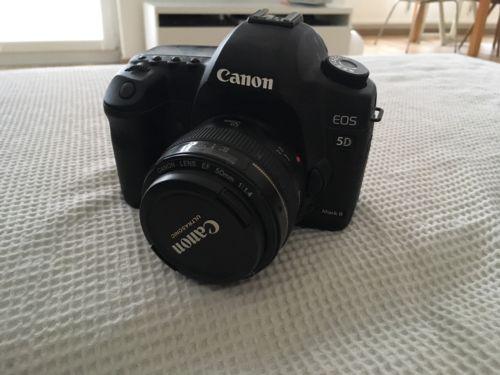Canon EOS 5D Mark II 21.1MP Digitalkamera - Schwarz (Nur Gehäuse)