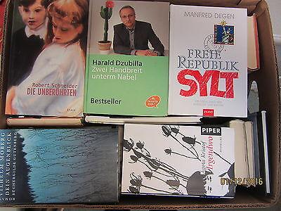 53 Bücher Hardcover Romane Sachbücher verschiedene Themen Paket 4