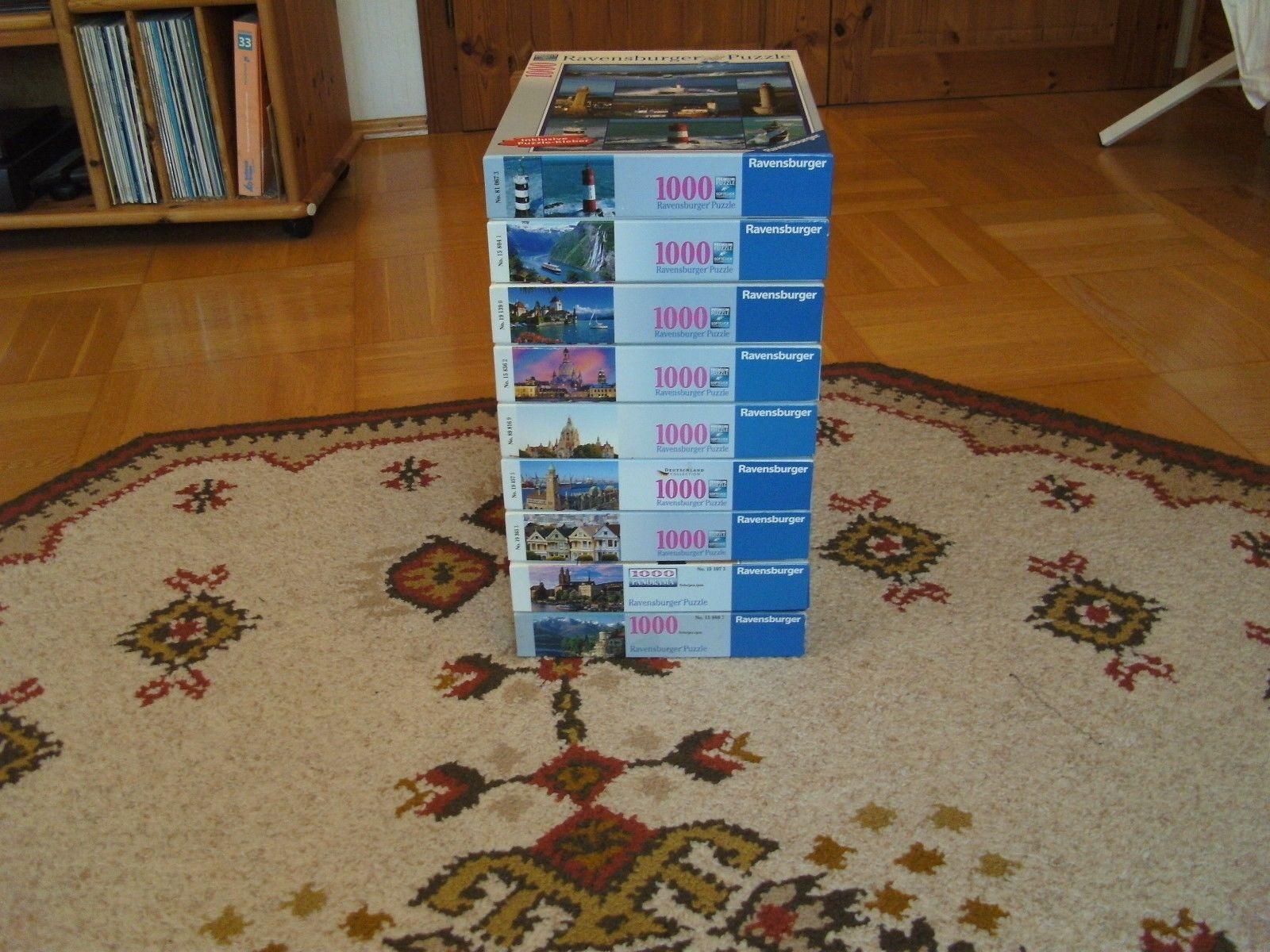Sammlung 9 x 1000 Teile, Konvolut Ravensburger,Paket Städtebilder, guter Zustand