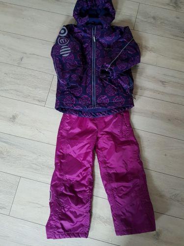 Minymo Skianzug, Schneeanzug Gr 122/128 Mädchen Lila und Brombeer