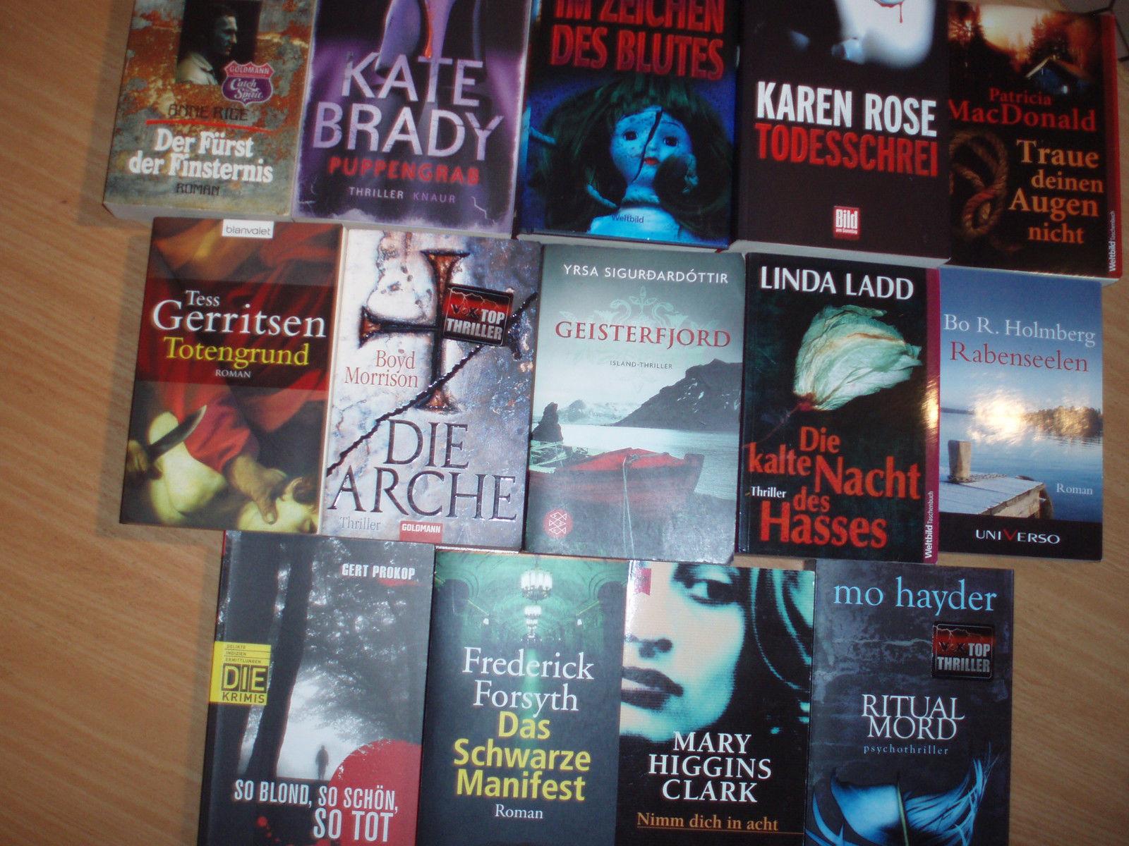 Bücherpaket 14 Krimis & Thriller