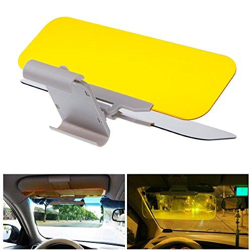 Racksoy Praktisch 2-in-1 Auto Kfz Sonnenschutz Sonnenblenden Frontscheibe Blendscheinwerfer für Tag- & Nachtfahrten