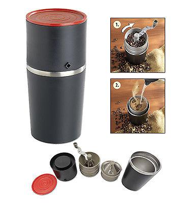Wenko Kaffeebereiter 3 in 1 mit hochwertiger Mühle und Dauerfilter