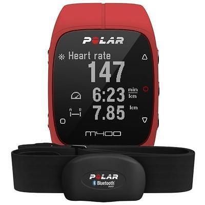 Polar M400 HR Rot inkl. Brustgurt Herzfrequenz Sensor H7 ROT Pulsuhr Tracker