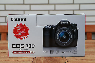 Canon EOS 70D SLR-Digitalkamera - Schwarz (Nur Gehäuse) TOP-Zustand!
