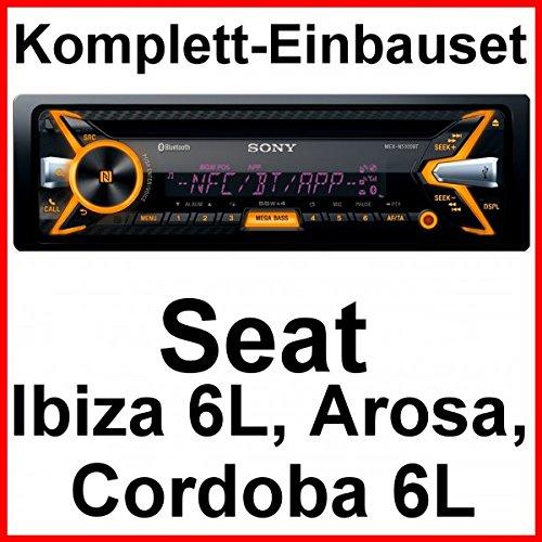 Komplett-Set Seat Ibiza 6L Arosa Cordoba Sony MEX-N5100BT Autoradio Bluetooth