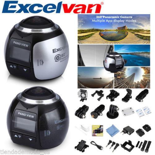 Excelvan 360 Grad 16MP UHD 3D VR Kamera Panorama Fotos Videos Wlan WIFI Outdoor