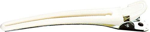 Fripac-Medis Combi-Haarclips mit Edelstahlfeder, Karte mit 10 Stück, weiß