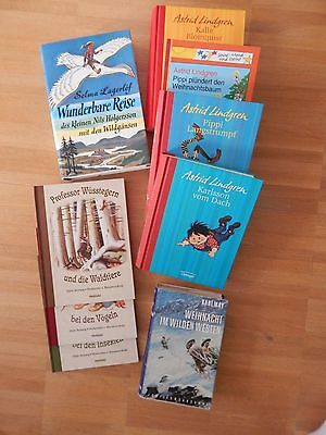 Kinderbücher von Astrid Lindgren, Selma Lagerlöf, Karl May