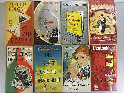 149 Bücher Taschenbücher rororo Verlag bis Seriennumer 8000