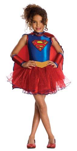 Supergirl?-Kostüm mit Pailletten für Mädchen - 5 bis 7 Jahre