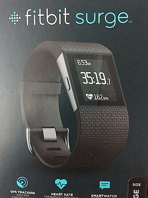 Fitbit Surge Large schwarz GPS Fitnesstracker / Sportuhr