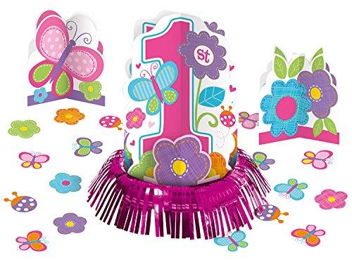 Amscan 280032 - Tisch Deko Set, Sweet Birthday Girl, 4-teilig